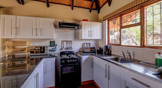 Thendele Camp 2 bed Chalet Kitchen Self-Catering Drakensberg Accommodation Upper Camp Royal Natal Park
