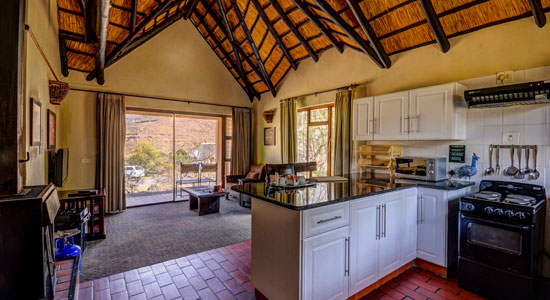 Thendele Camp 2 bed Chalet Patio Lounge Kitchen Self-Catering Drakensberg Accommodation Upper Camp Royal Natal Park