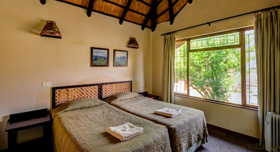 Thendele Camp 2 bed Chalet Bedroom Self-Catering Drakensberg Accommodation Upper Camp Royal Natal Park