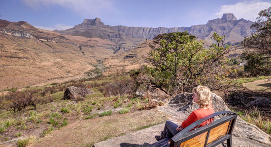 Thendele Camp view point Self-Catering Amphitheatre Drakensberg Accommodation Upper Camp Royal Natal Park South Africa